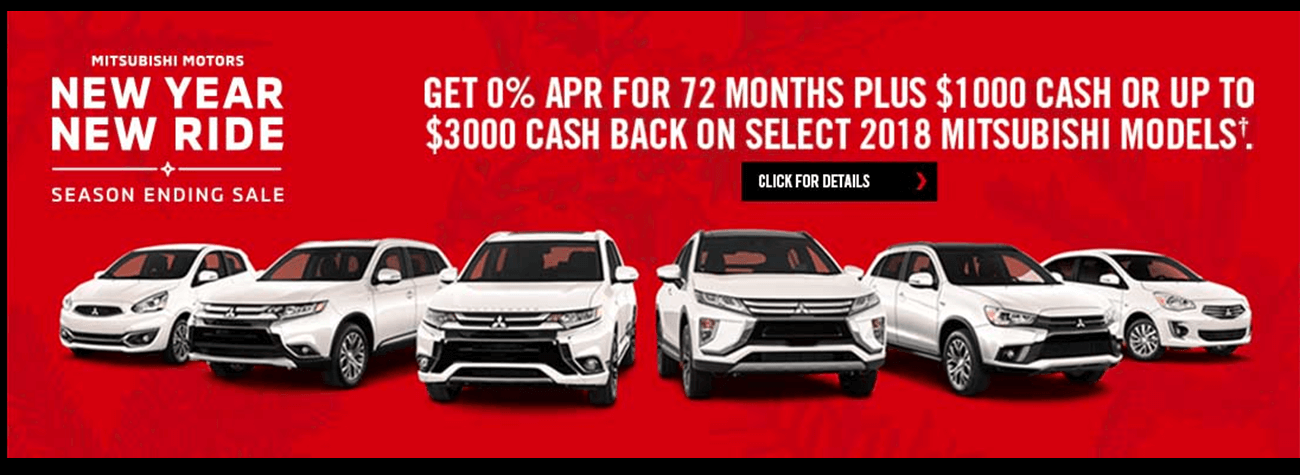 New Year New Ride Special at Camacho Mitsubishi
